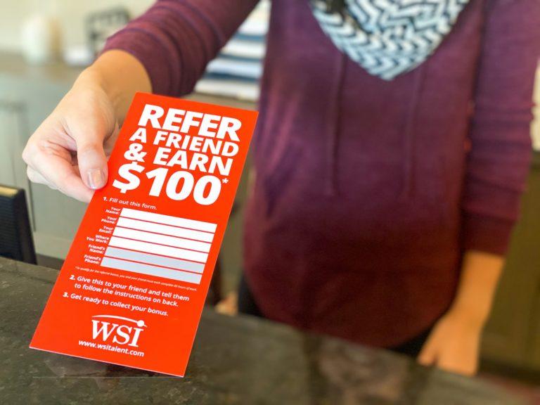 WSI Staffing Blog - 5 ways to enjoy referral bonus