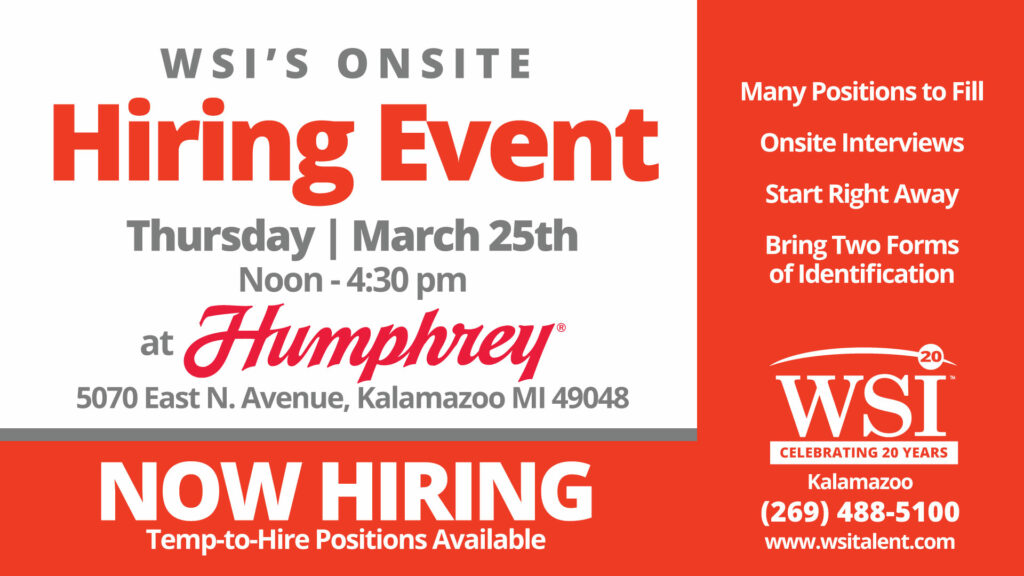 humphrey products onsite hiring event